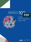 """Fintech Innovators """"Fintech 100"""" List 2015"""