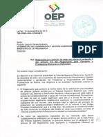 Nota reenviada al viceministro, Rodolfo Illanes