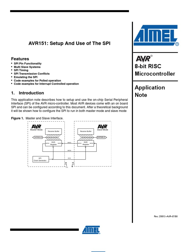 Avr151 Setup And Use Of The Spi Electronic Design Computer Data Figure 2 Timing Diagram