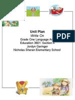 ct unit plan