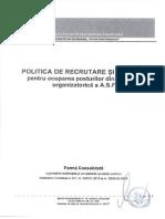 Politica de Recrutare Aprilie 2015