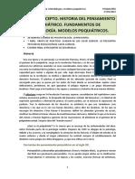 TEMA 1. Historia Del Pensamiento Psiquiátrico.