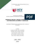 Macro y Micro Economicas en Los Mercados