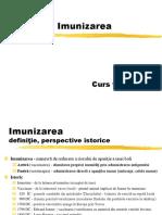 Curs  Imunizarea