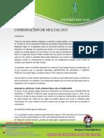Condonacion de Multas 2015
