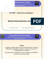 Analogica I (2) Semicondutores Juncao PN 2013