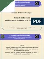 Analogica I (11) BJT Amplificadores 3 2013