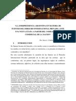 Jurisprudencia Argentina en Materia de Fuentes Del Derecho Internacional Privado