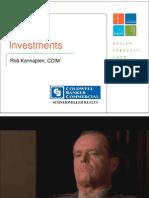 Investments (Rob Kannapien) - 2010 Kootenai County Market Forum