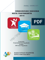 Indeks Pembangunan Manusia Kota Yogyakarta 2014