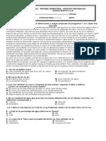 Prueba semestral 2° C.Nat. 5°