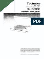 Technics SL-BD22 Owners Manual