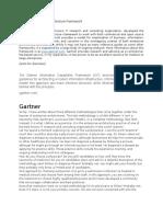 Gartner Enterprise Architecture Framework