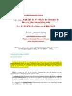 Atualização da 6a edição da sinopse de Direito Previdenciário