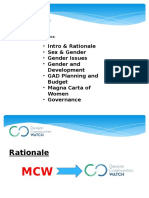 DCW Ppt Re MCW Gender & Gov