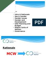 DCW Ppt Re MCW Gender & Gov