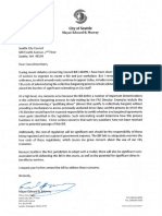 Seattle Mayor Murray letter to Council RE