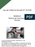 Ley de Violencia Escolar N° 20 Mineduc