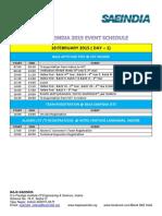 Baja Saeindia 2015 - Event Schedule