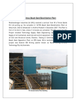 Trimex Beach Sand Beneficiation Plant