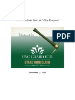 unc charlotte provost office proposal