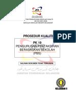 Pk19 Prosedur Kualiti Pengurusan Pentaksiran Berasaskan Sekolah(Pbs)