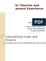Trade Theories and Development Experience