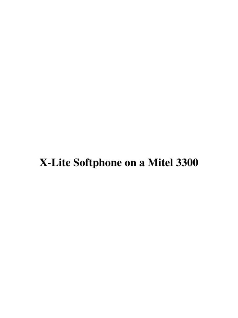 x lite softphone on a mitel 3300. Black Bedroom Furniture Sets. Home Design Ideas