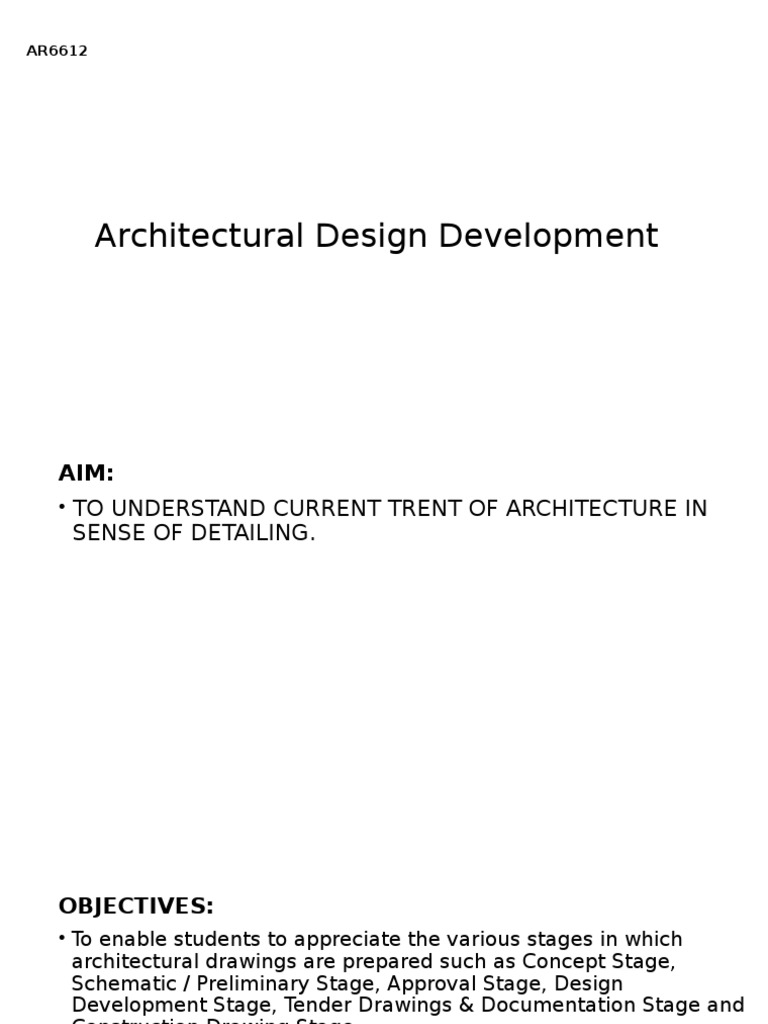 Architectural Design Development | Roof | Technology