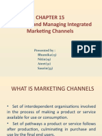 Designing & manging marketing channels