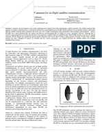 Design of a FLAP Antenna for in-flight Satellite Communication