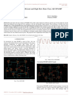 Design of Power Efficient and High Slew Rate Class AB OPAMP
