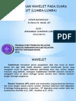 SIgnal Processing ( Wavelet) Used MATLAB