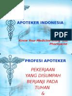 Apoteker Indonesia Sesungguhnya
