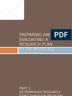 Preparing Research Proposal