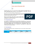 Rekomendasi Harga Emas 10 Desember 2015