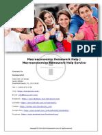 Macroeconomics Homework Help