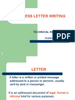 Notes-how to Write Business Letters