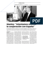 151215 La Verdad- Manley- 'Intentamos Reforzar La Cooperación Con España'