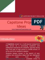 Capstone Project Ideas