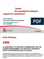 Researchers Forum Policy Background
