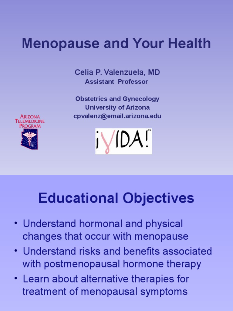 Menopause and Your Health - English Presentation | Estrogen