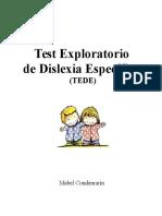 Test Exploratorio TEDE DISLEXIA