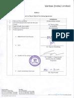 Annual Report 2014-2015 Veritas-India BSE