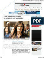 Kane Aide Files Wrongful Termination Suit Against Her in Philly.com December 14, 2015