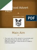 dog food advert pitch