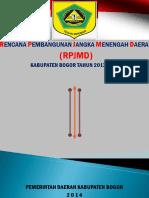 RPJMD Kab. Bogor 2013 - 2018