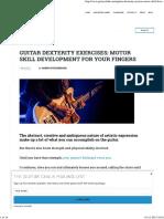 Guitar Dexterity Exercises _ Guitar Chalk