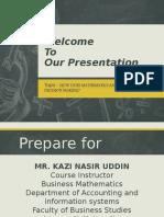 Matrix  Math Presentatin