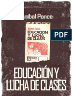 Educación y lucha de clases. Anibal Ponce.